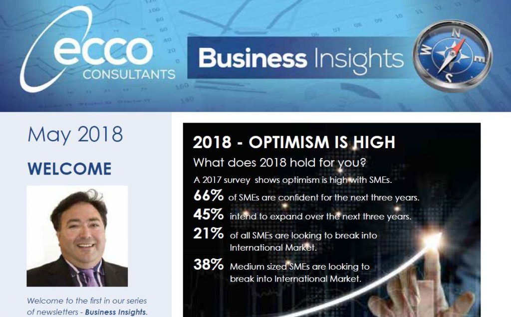 eccoConsultants Business Insights newsletter May 2018